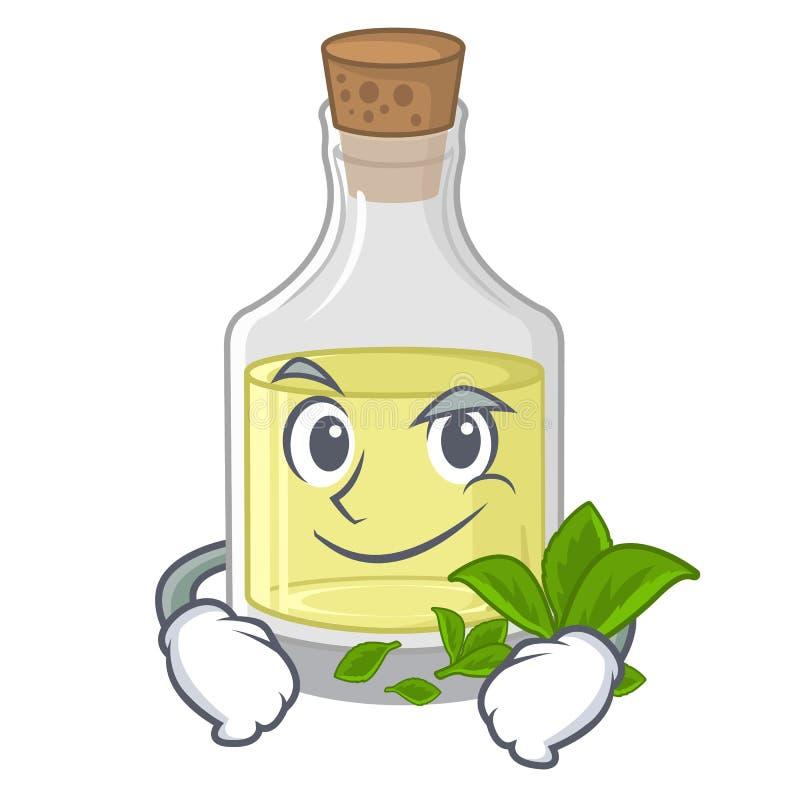 De olie van de Smirkingspepermunt in de beeldverhaalvorm vector illustratie