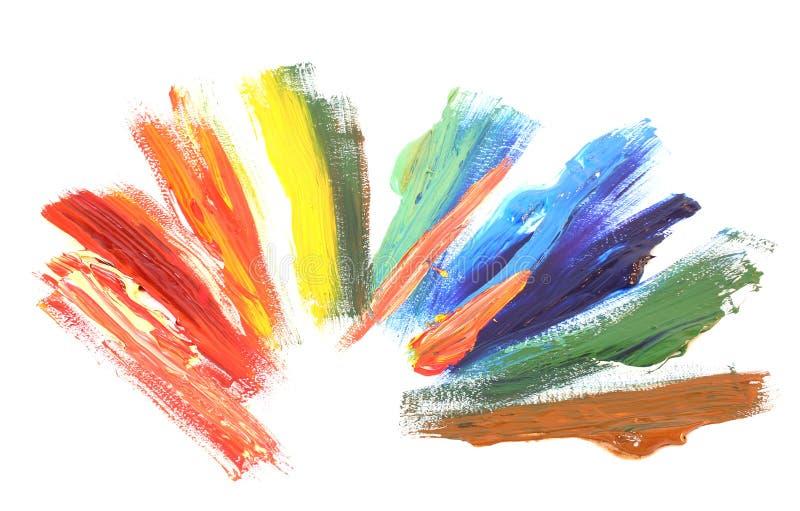 De olieverf van de kleur royalty-vrije stock afbeelding