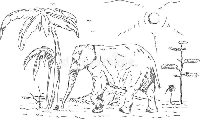 De olifant stock illustratie
