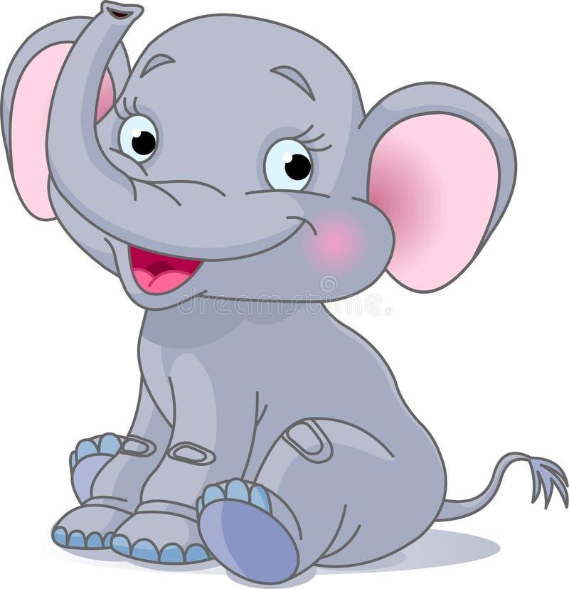 De olifant van de baby stock illustratie