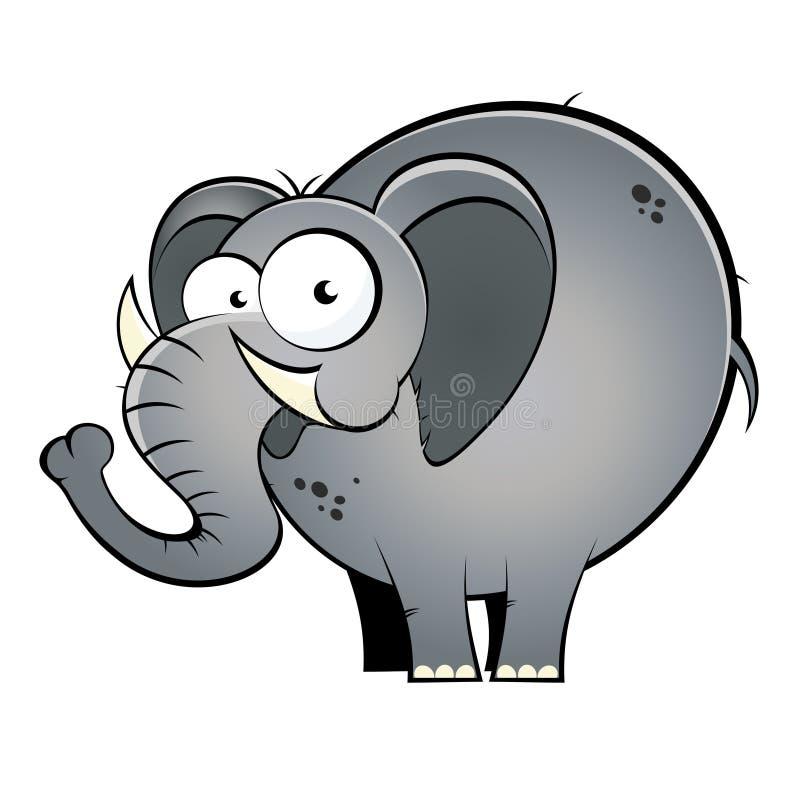 De olifant van het beeldverhaal stock illustratie