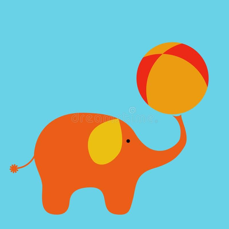 De olifant van het circus royalty-vrije illustratie