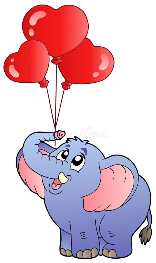 De olifant van het circus met ballons 2 royalty-vrije illustratie