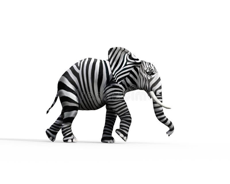 De olifant verschillend is stock illustratie