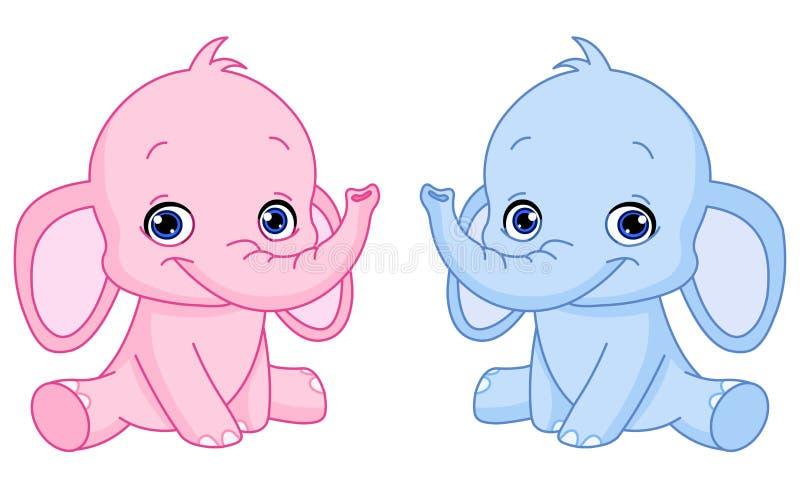 De olifanten van de baby vector illustratie