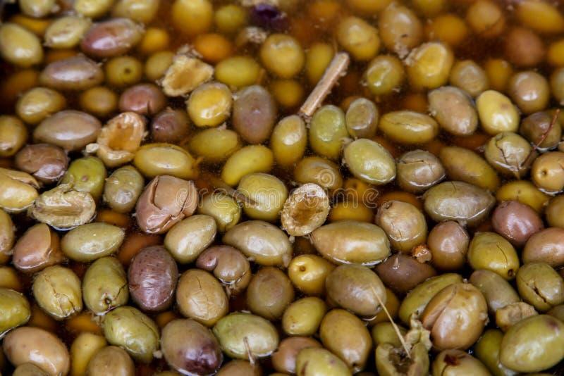 De olijven behouden binnen als achtergrond royalty-vrije stock afbeelding