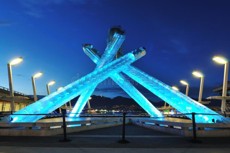 de olympische ketel Vancouver van 2010 stock afbeelding