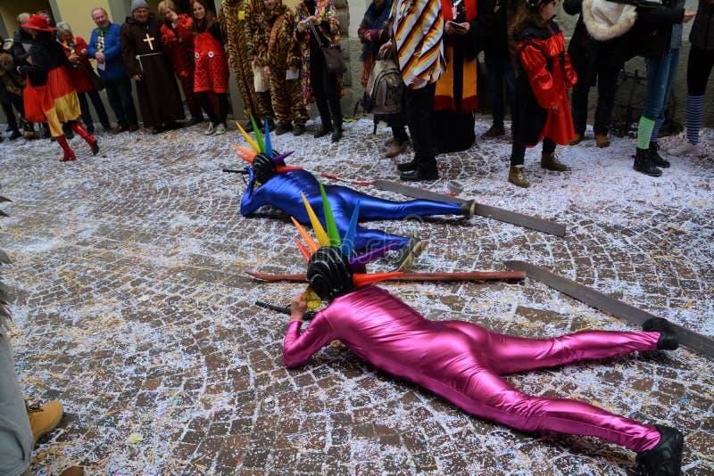 De Olympische Kostuums van Konstanz Fasnacht royalty-vrije stock foto