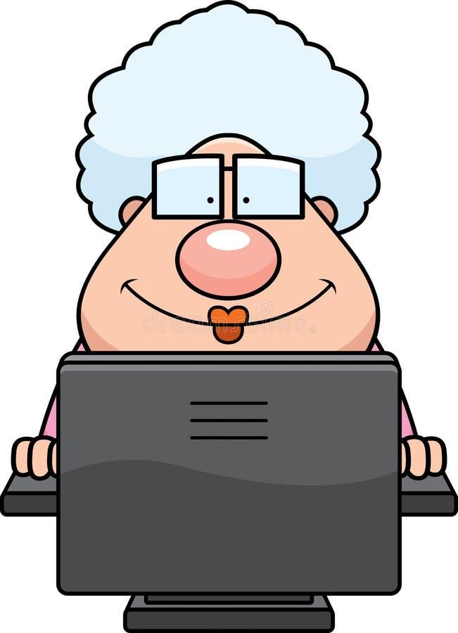 De Oma van de computer stock illustratie