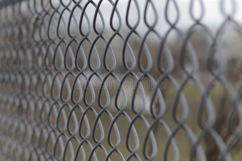 De Omheining Close Up van de kettingsverbinding stock afbeelding