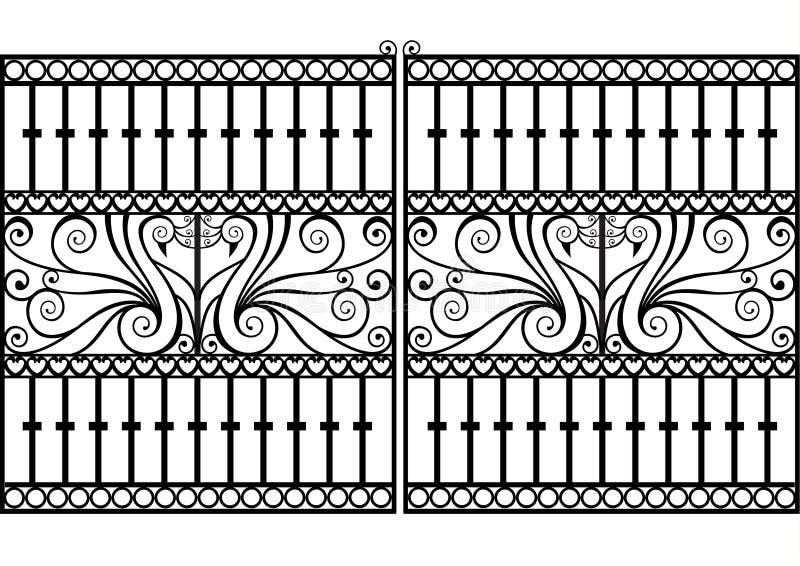 De omheining of de poort van het smeedijzer royalty-vrije illustratie