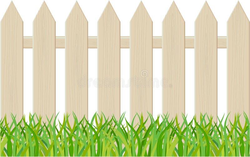 De omheining die op een witte achtergrond wordt geïsoleerdt stock illustratie