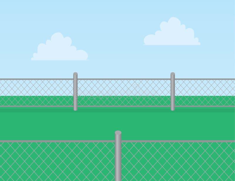 De Omheining Grass van de kettingsverbinding royalty-vrije illustratie