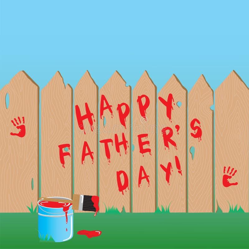 De Omheining van de vaderdag stock illustratie