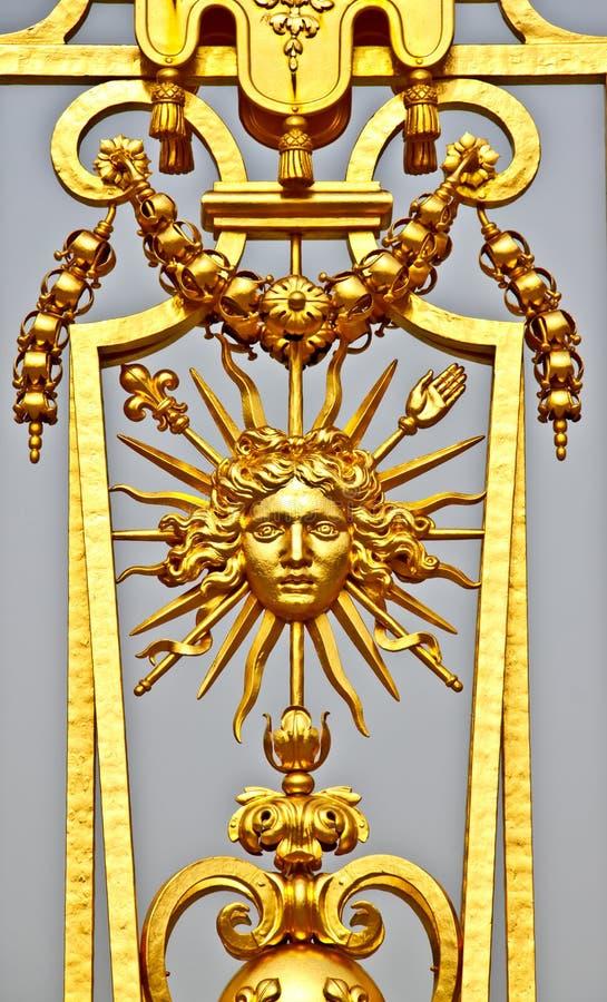De omheining van Gloden van paleis 4 van Versailles royalty-vrije stock fotografie