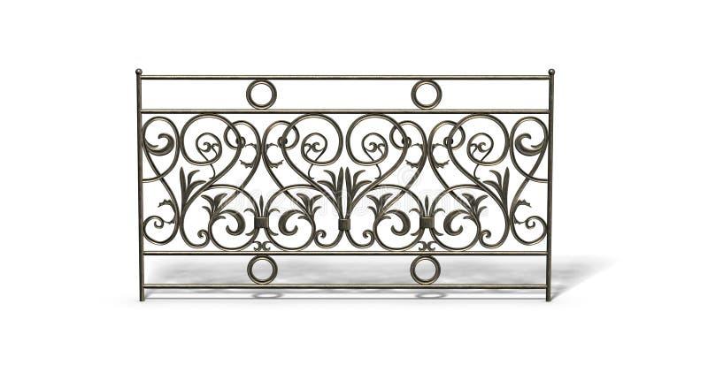 De omheining van het brons stock illustratie