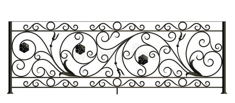 De omheining van het ijzer met bloemen en bladeren vector illustratie