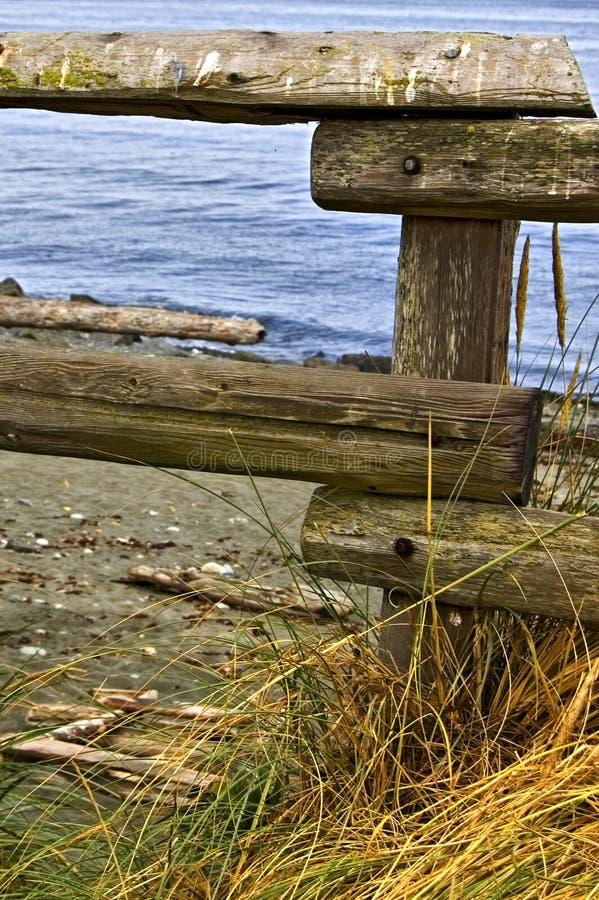 De Omheining van het strand royalty-vrije stock fotografie