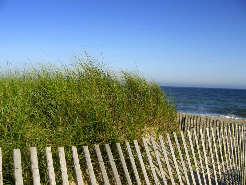 De Omheining van het strand stock fotografie