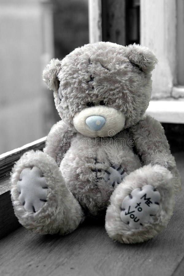 De Omhelzing van de teddybeer royalty-vrije stock foto's