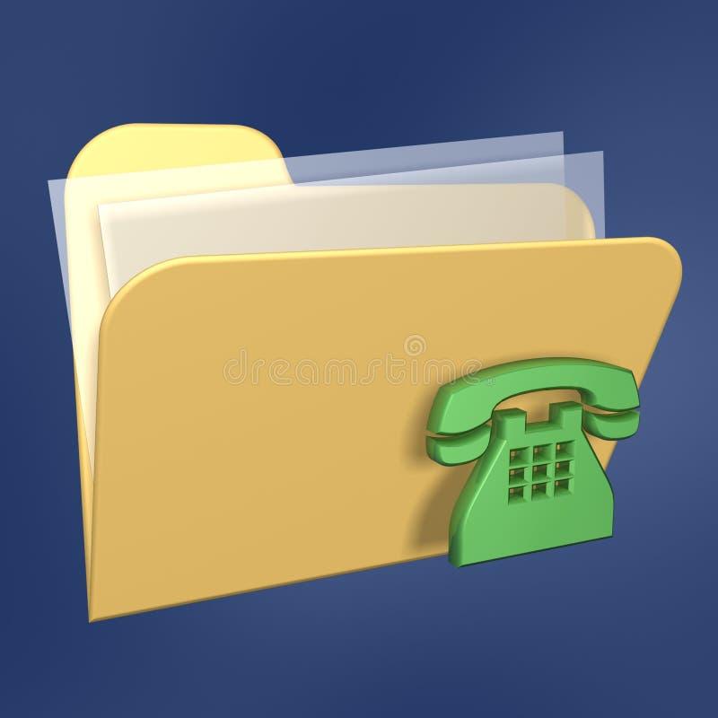 De omslag en de telefoon van dossiers royalty-vrije illustratie