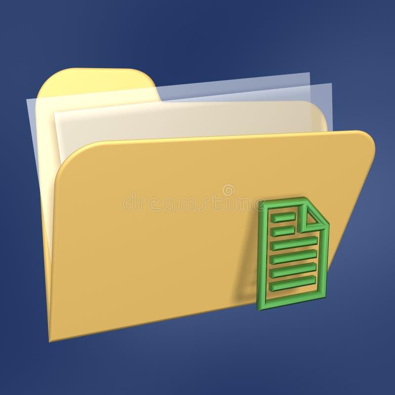 De omslag en het document van dossiers stock illustratie