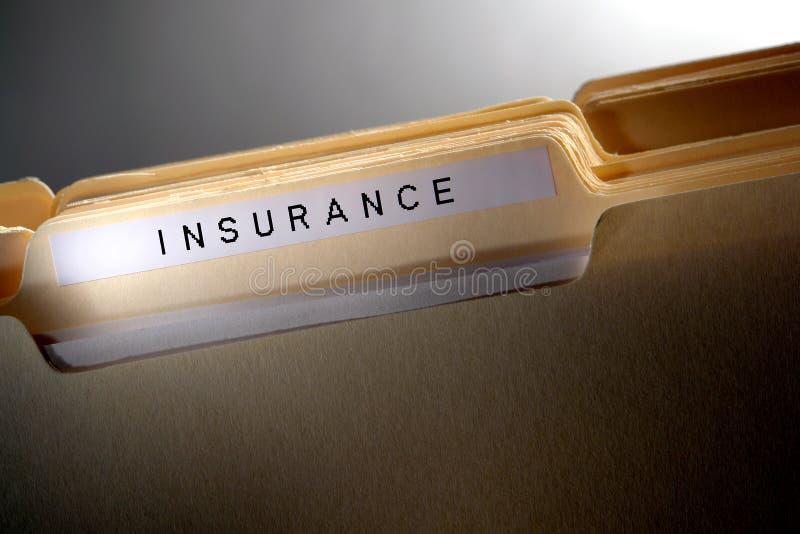 De Omslag van het Dossier van de verzekering stock afbeelding