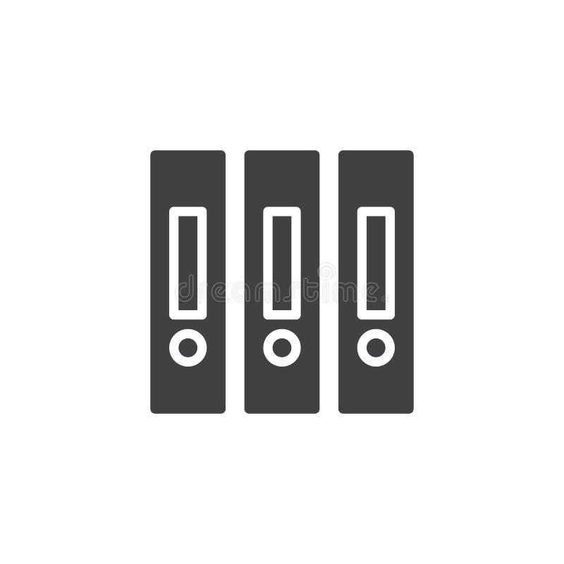 De omslagen vectorpictogram van het bureaudossier stock illustratie