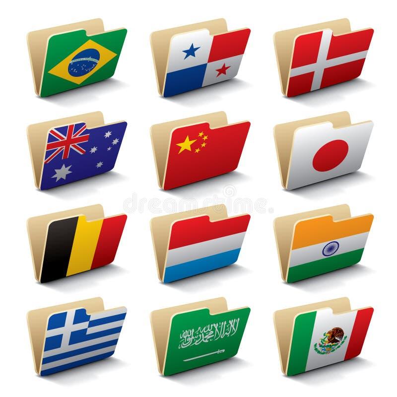 De omslagenpictogrammen 2 van de wereld vector illustratie