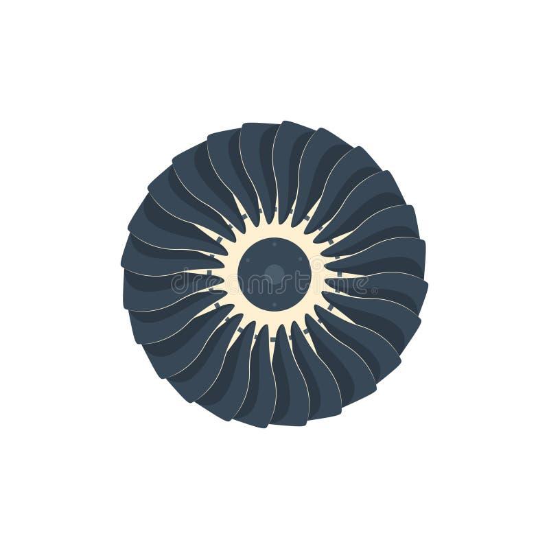 De omwenteling van de de propellerventilator van turbinespictogrammen vector illustratie