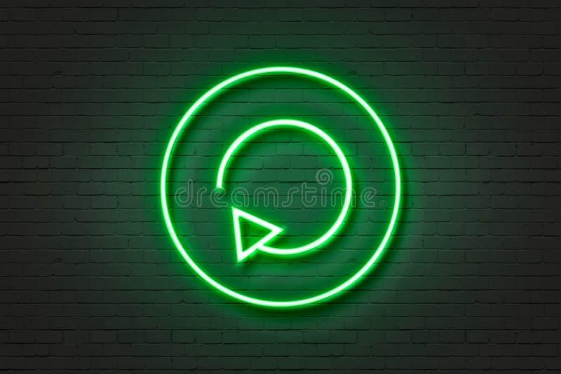 De omzetting van het neonlichtpictogram stock afbeelding