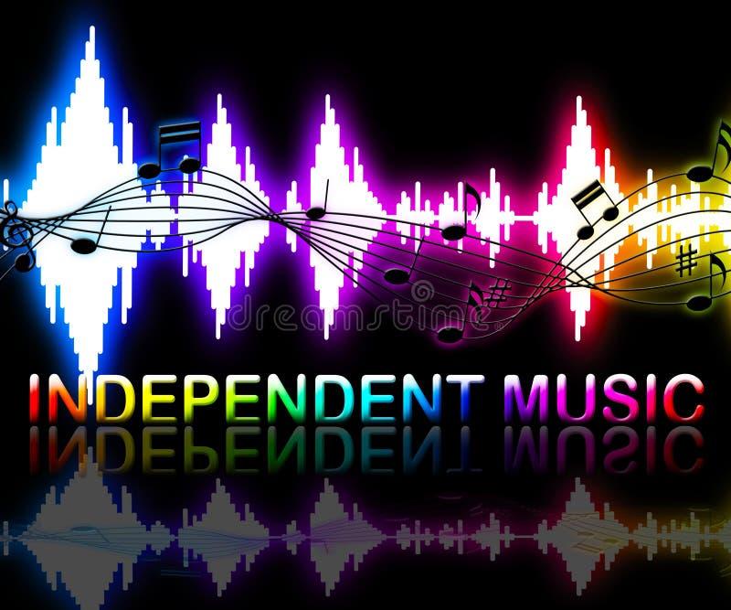 De onafhankelijke Muziek toont Correcte Sporen en Indie vector illustratie