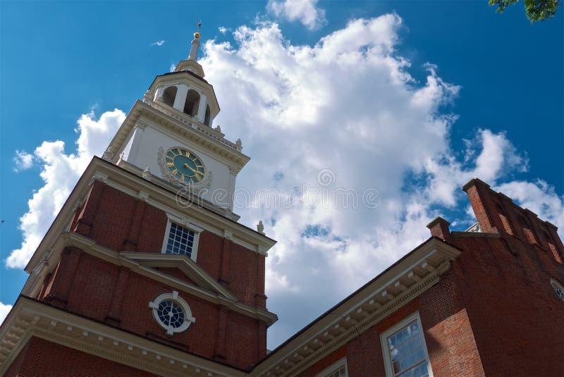 De Onafhankelijkheid Hall Liberty Bell Tower van Philadelphia royalty-vrije stock afbeelding