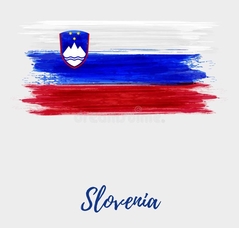 De Onafhankelijkheid van Slovenië en de vakantieachtergrond van de Eenheidsdag royalty-vrije illustratie