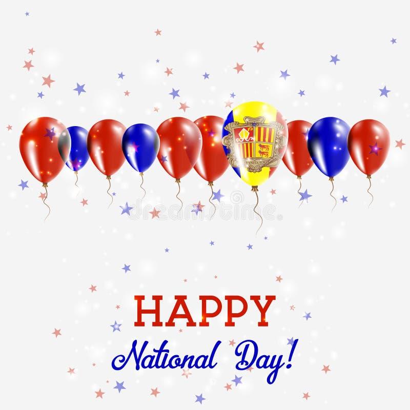 De Onafhankelijkheidsdag van Andorra Patriottisch Fonkelen vector illustratie