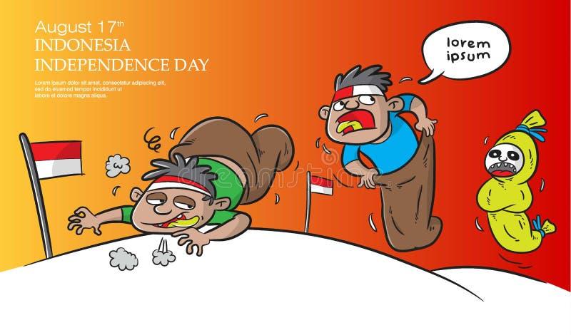 DE ONAFHANKELIJKHEIDSdag VAN INDONESI? vector illustratie