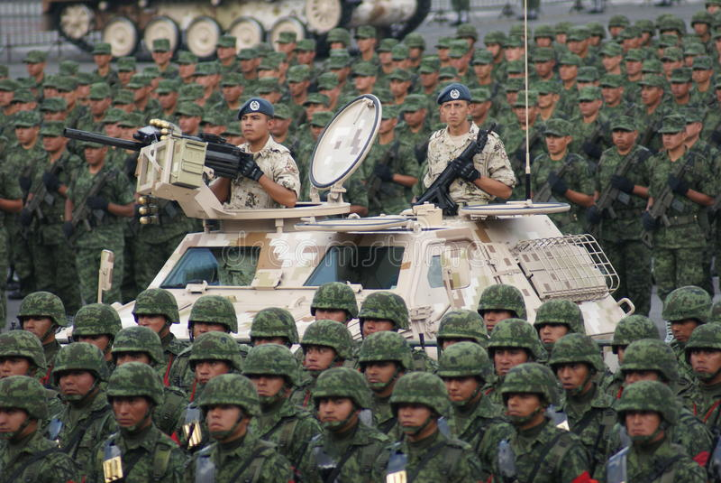 De Onafhankelijkheidsparade van Mexico stock afbeelding