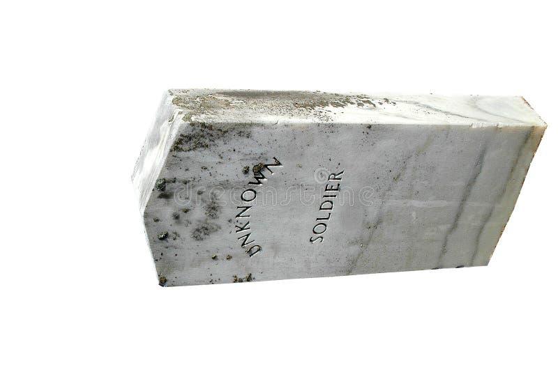 De onbekende Grafsteen van de Militair stock fotografie