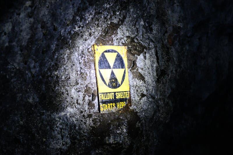De ondergrondse Schuilplaats van de Radioactieve neerslag stock fotografie