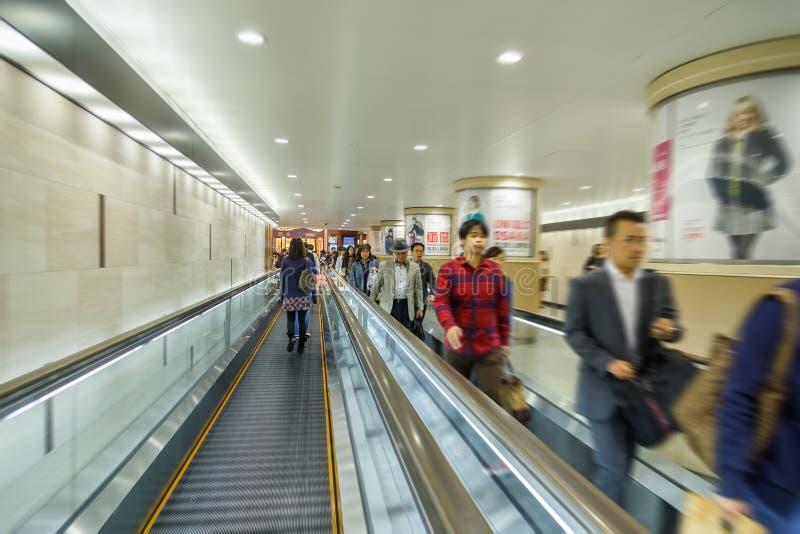 De ondergrondse Umeda-terminal stock foto's