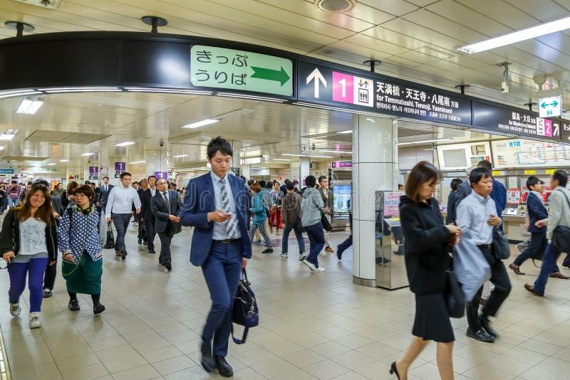 De ondergrondse Umeda-terminal royalty-vrije stock afbeelding