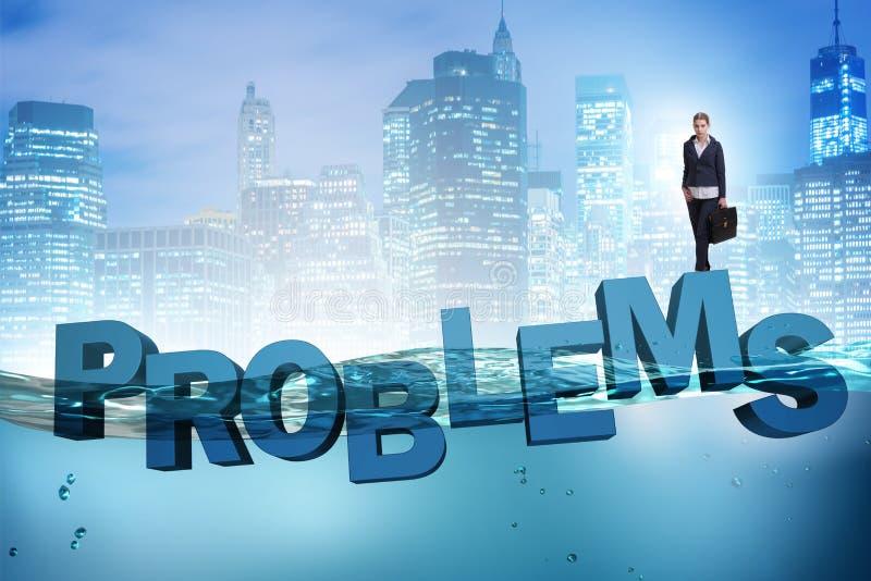De onderneemster die problemen in bedrijfsconcept hebben royalty-vrije illustratie