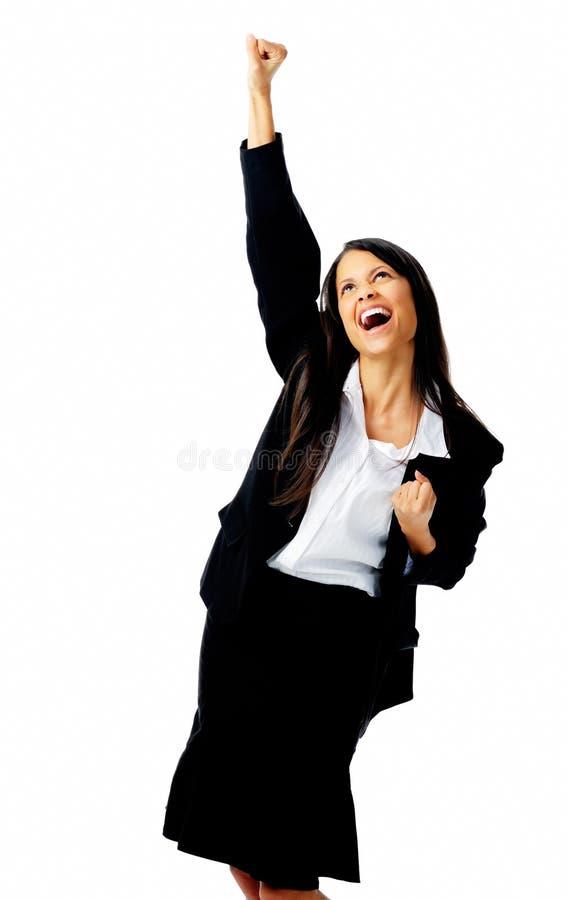 De onderneemster van de viering stock foto