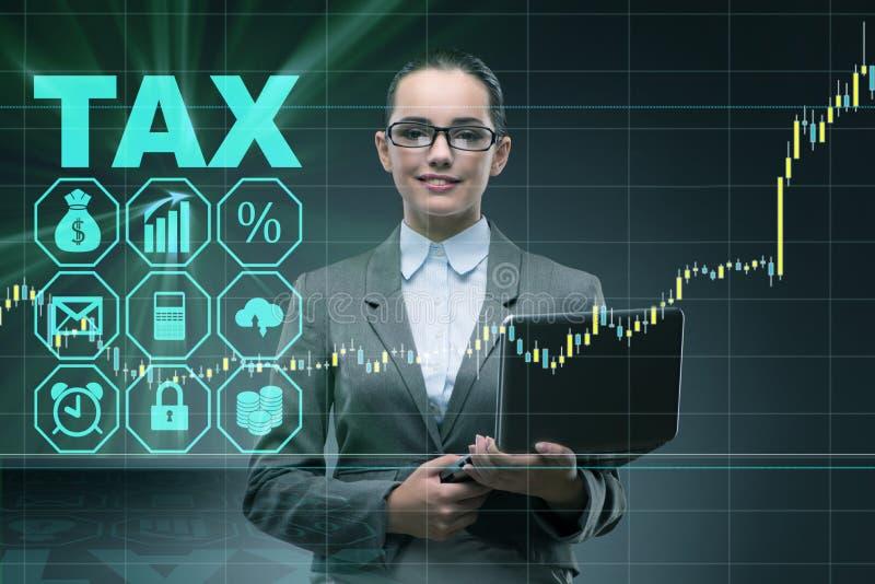 De onderneemster in vennootschapsbelastingsconcept royalty-vrije stock afbeelding