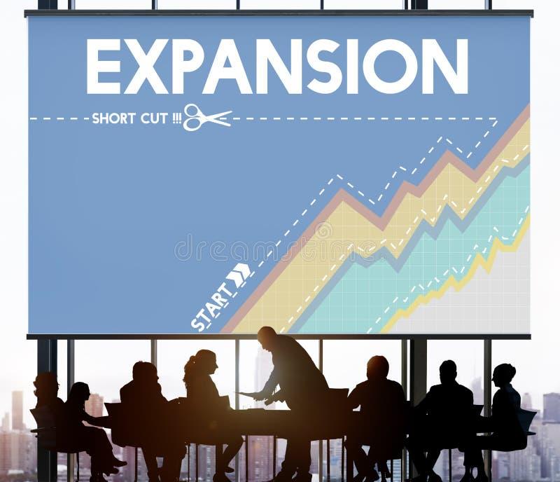 De Ondernemer Way Success Business van de beginuitbreiding stock afbeelding