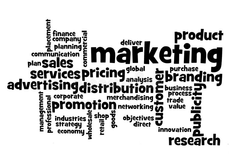 De onderwerpen van de marketing royalty-vrije stock afbeelding