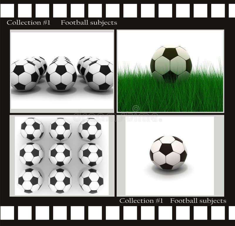 De onderwerpen van de voetbal vector illustratie