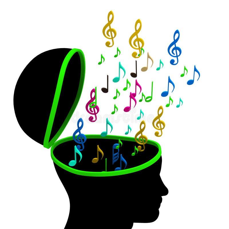 De onderwijsmuziek betekent G-sleutel en Componist vector illustratie