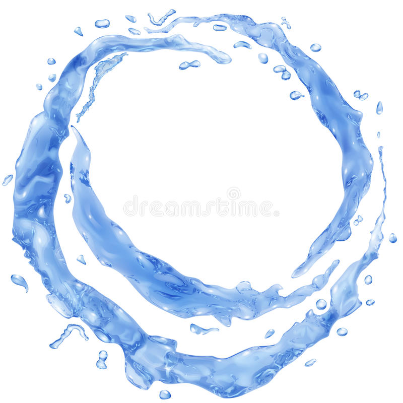 De ondoorzichtige waterplonsen in de vorm van de helft belt royalty-vrije illustratie