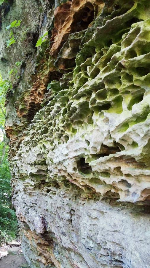De ongebruikelijke vorming van de kalksteenrots in het Shawnee National-bos royalty-vrije stock foto's